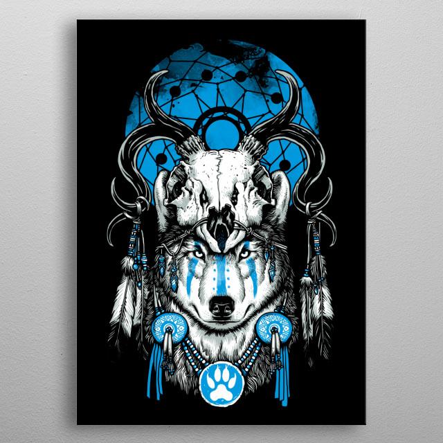Wolf Spirit metal poster