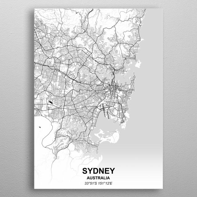 SYDNEY - AUSTRALIA metal poster
