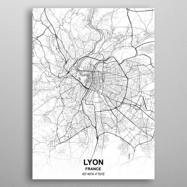 LYON - FRANCE metal poster