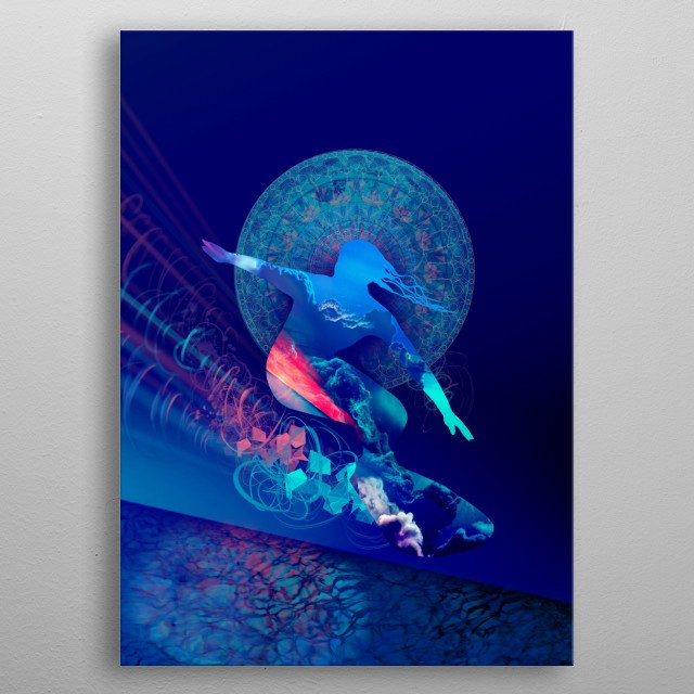 galaxy surfer 4 metal poster