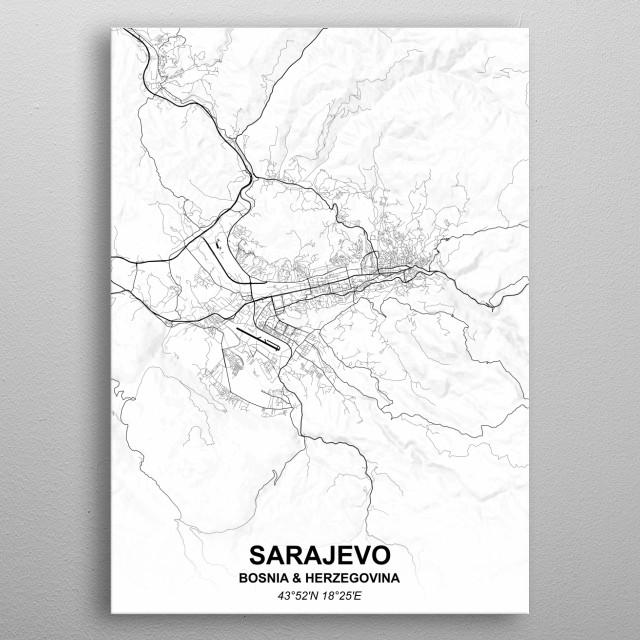 SARAJEVO - BOSNIA & HERZEGOVINA metal poster