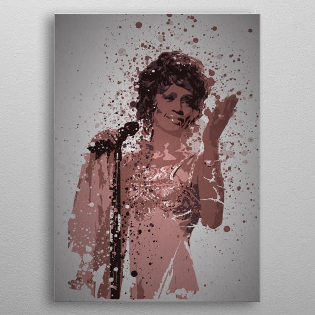Whitney Splatter metal poster