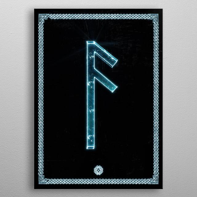 The ancient god, Odin. Prosperity, Vitality metal poster