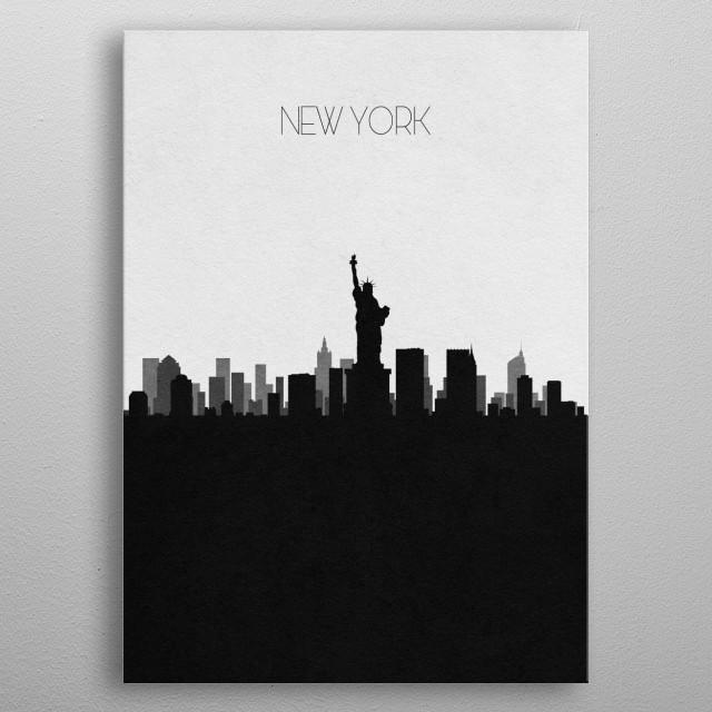 Destination: New York metal poster