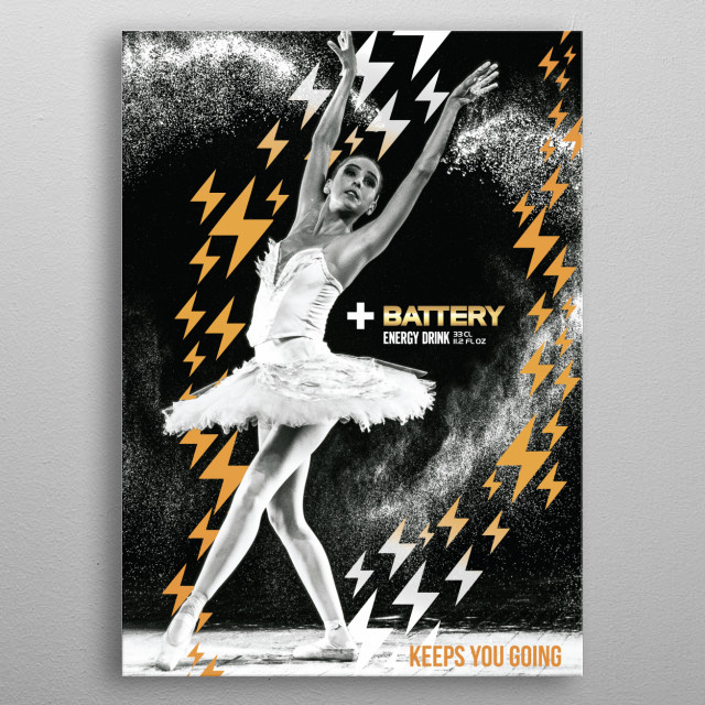 Battery Poster  metal poster