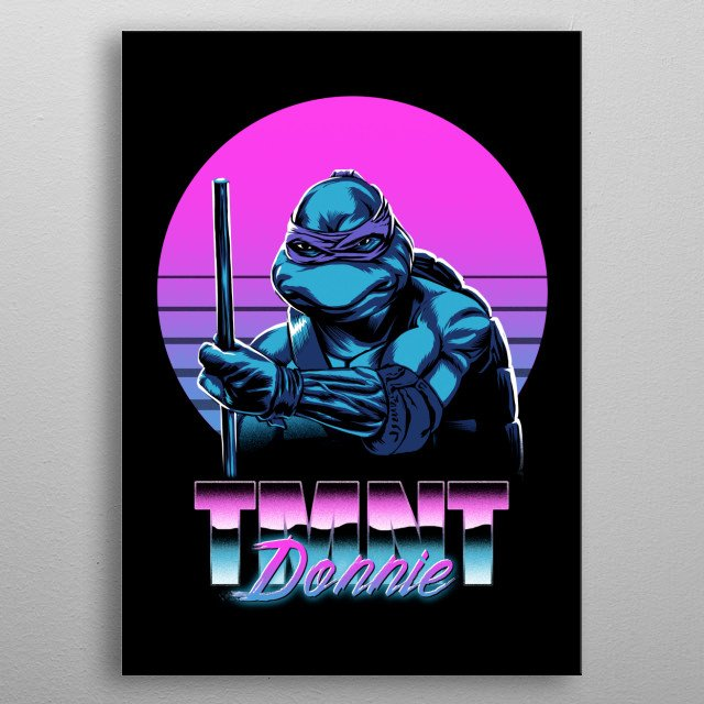 Retro Donnie metal poster