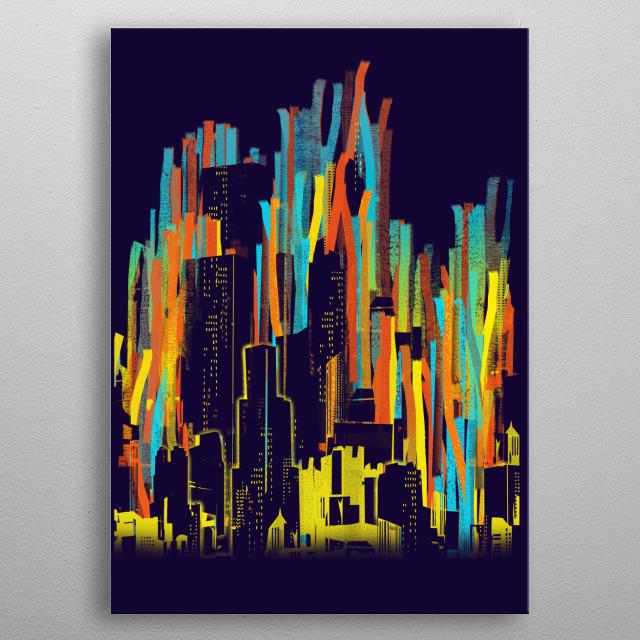 strippy city metal poster