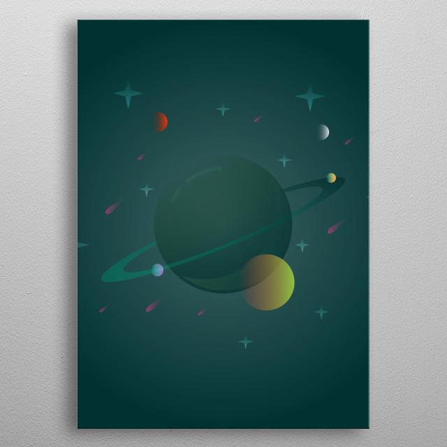 Planeta #01 metal poster