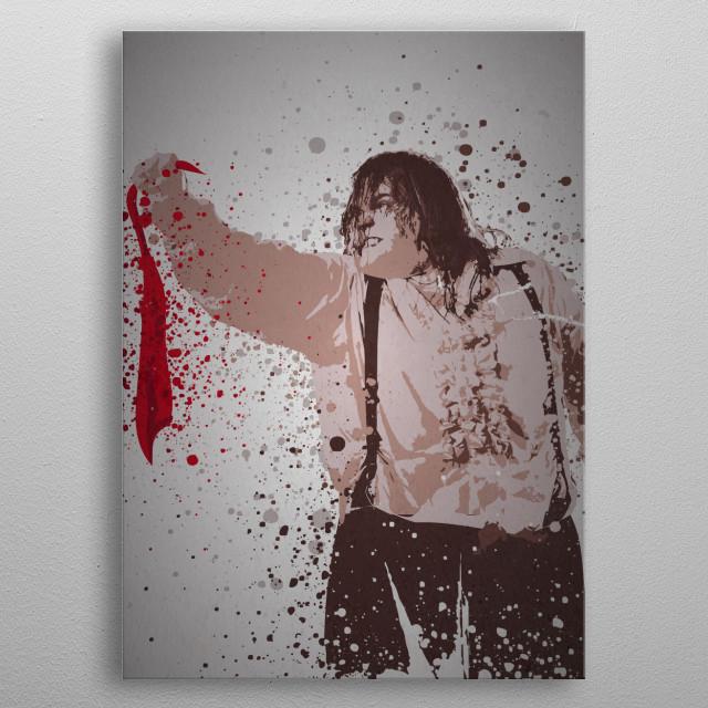 Meatloaf Splatter metal poster