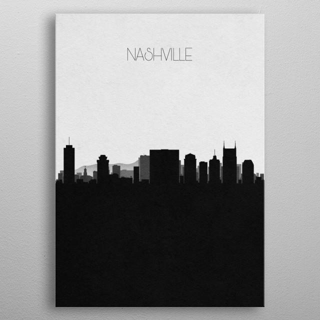 Destination: Nashville metal poster