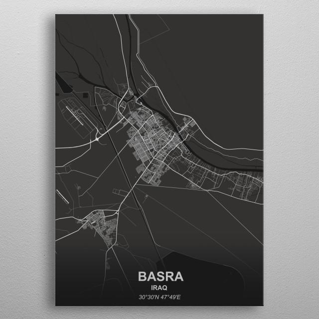 BASRA - IRAQ metal poster