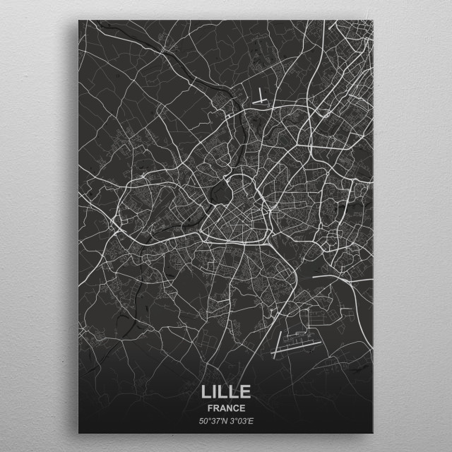 LILLE  FRANCE metal poster