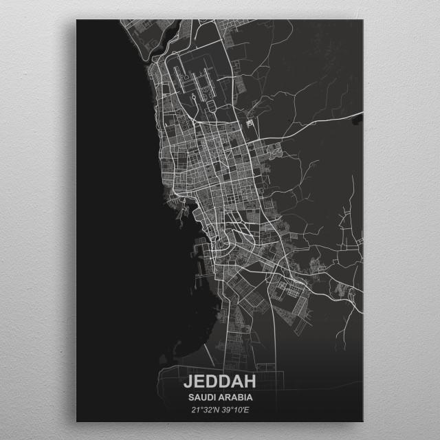 JEDDAH - SAUDI ARABIA metal poster
