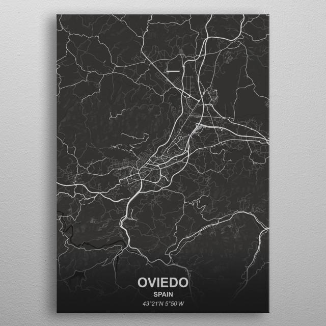 OVIEDO  SPAIN metal poster