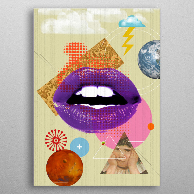 Retro Kiss by Elo metal poster