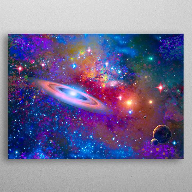 Deep Space metal poster