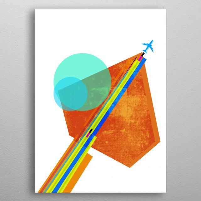 landing metal poster