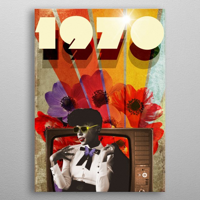 1970 retro collection metal poster