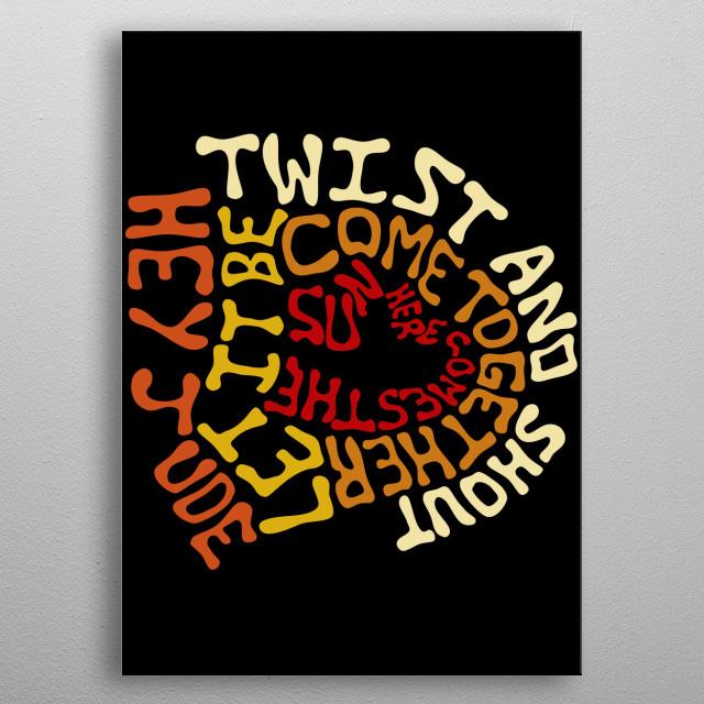 Beatles - Songs metal poster