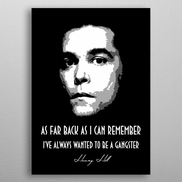 Henry Hill metal poster
