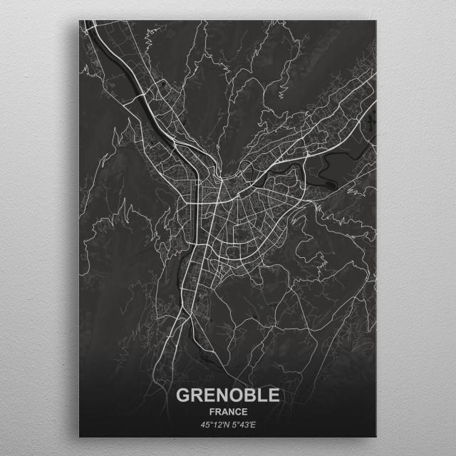 GRENOBLE - FRANCE metal poster