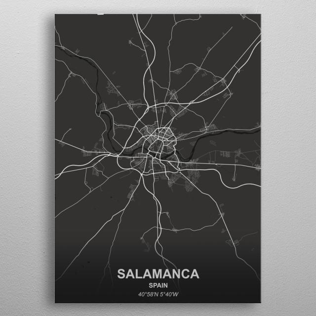 SALAMANCA  SPAIN metal poster
