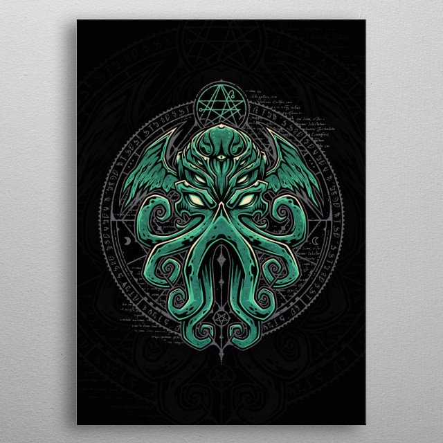 Great Cthulhu metal poster