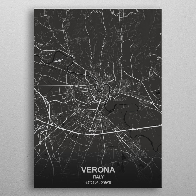 VERONA - ITALY metal poster