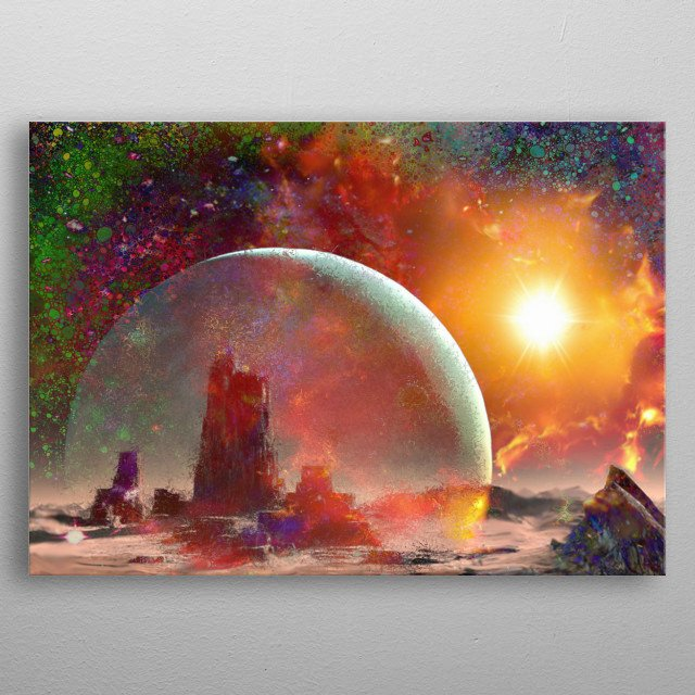 Fascinating metal poster designed by Don White. Displate has a unique signature and hologram on the back to add authenticity to each design. metal poster