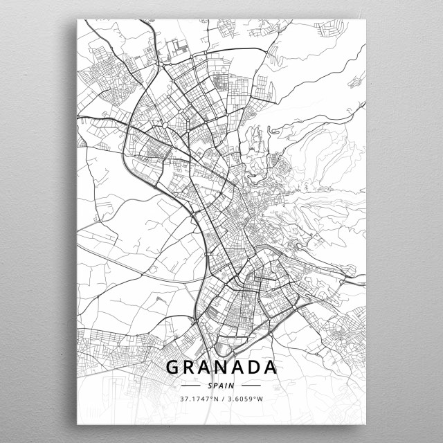 Granada, Spain metal poster