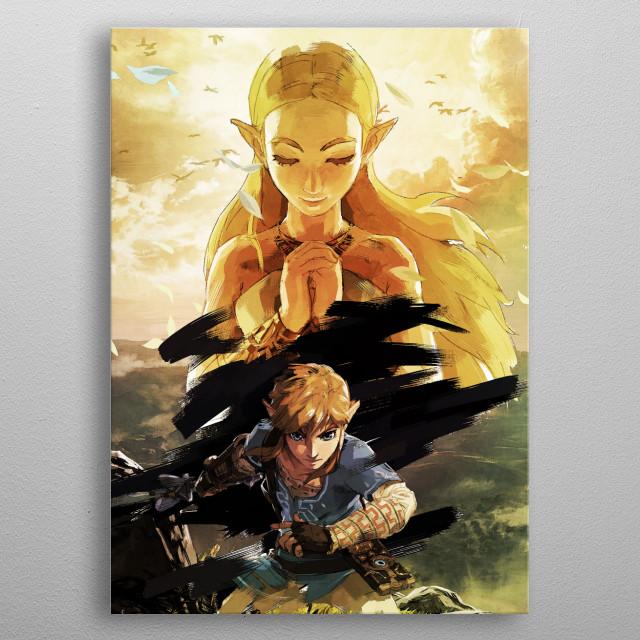 Princess Warrior metal poster