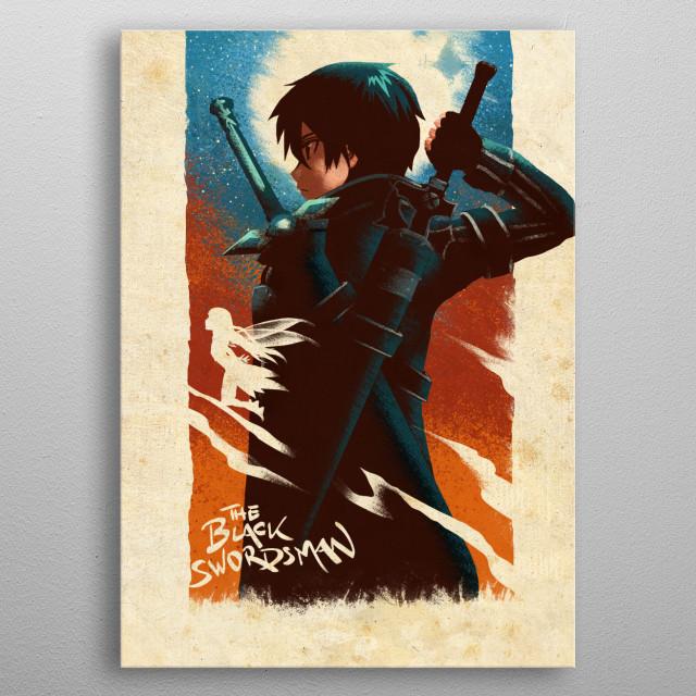 The Black Swordsman metal poster