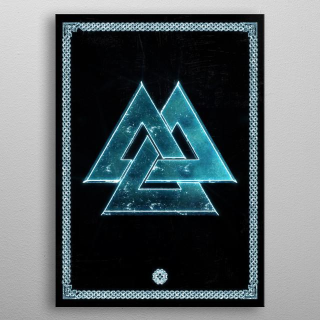 Valknut.  metal poster