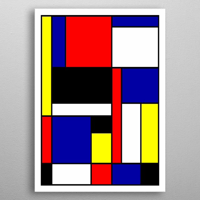 Abstract geometric design by Ron Trickett metal poster