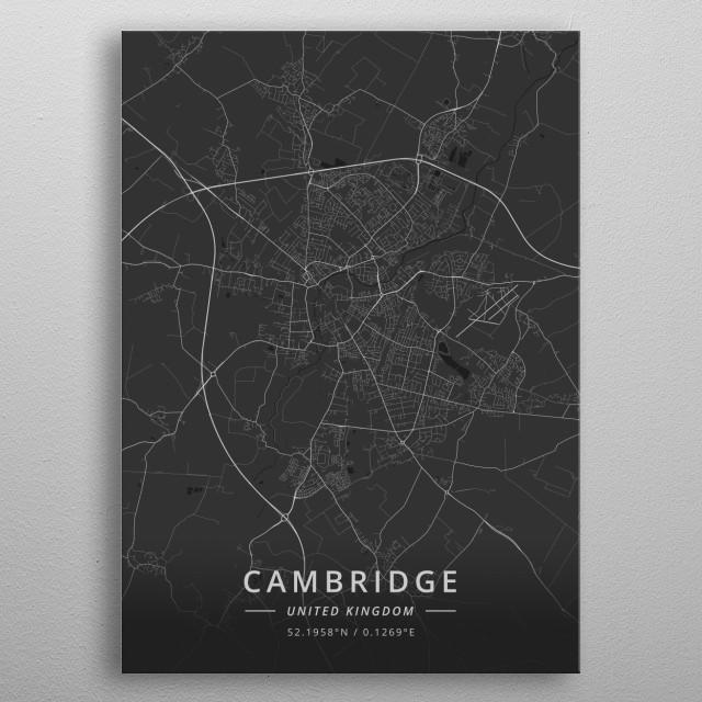 Cambridge, United Kingdom metal poster