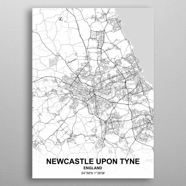 NEWCASTLE - ENGLAND metal poster