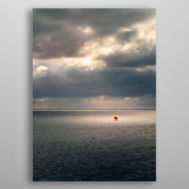 Sailer on the North Sea metal poster