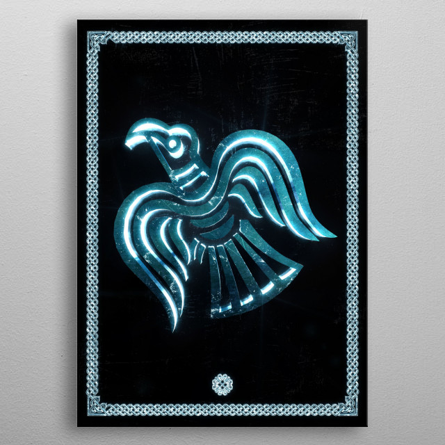Raven of Odin metal poster
