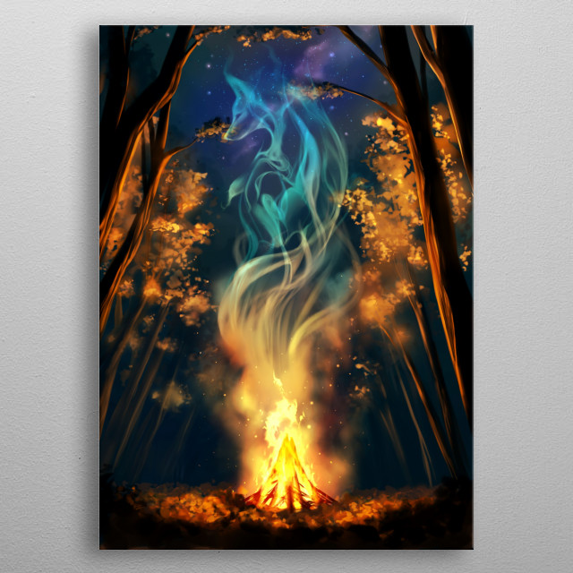 Forest breathes with spirits of its inhabitants... metal poster