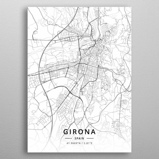 Girona, Spain metal poster