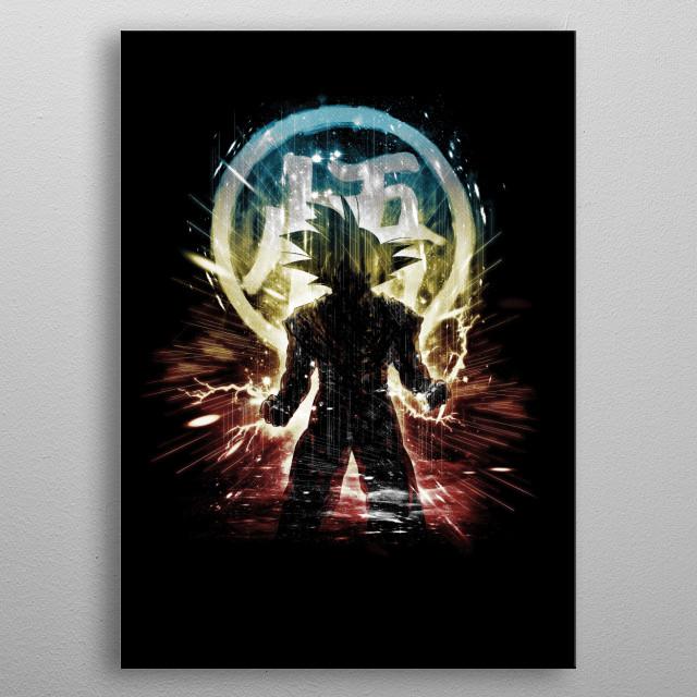 dragon storm metal poster