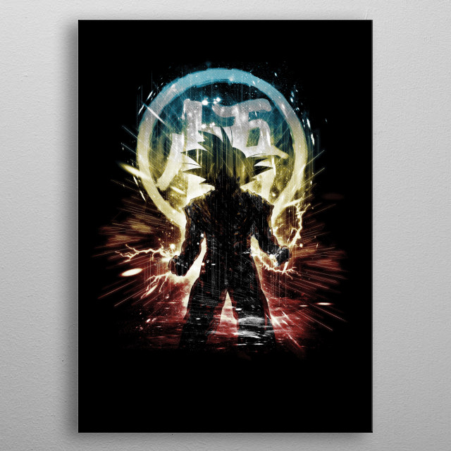 Fascinating metal poster designed by Kharma Zero. Displate has a unique signature and hologram on the back to add authenticity to each design. metal poster