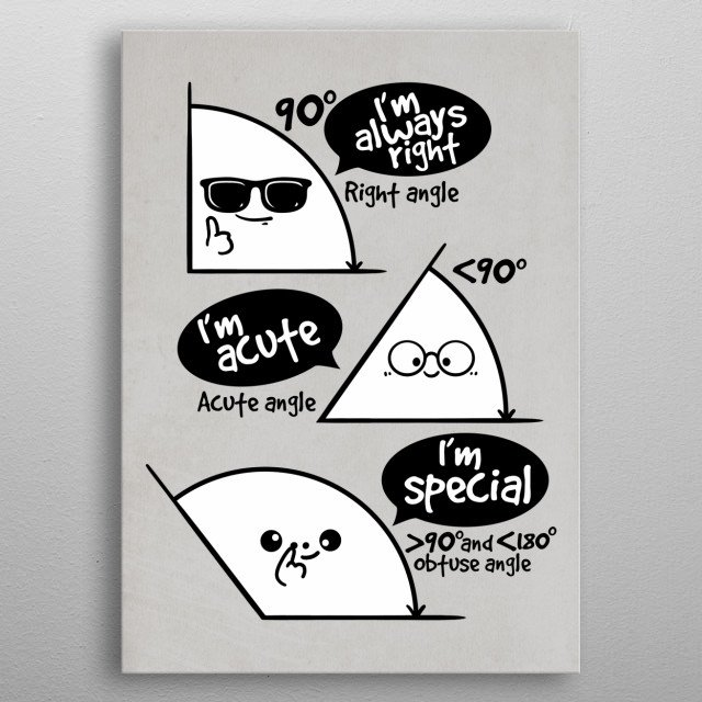 types of triangles metal poster