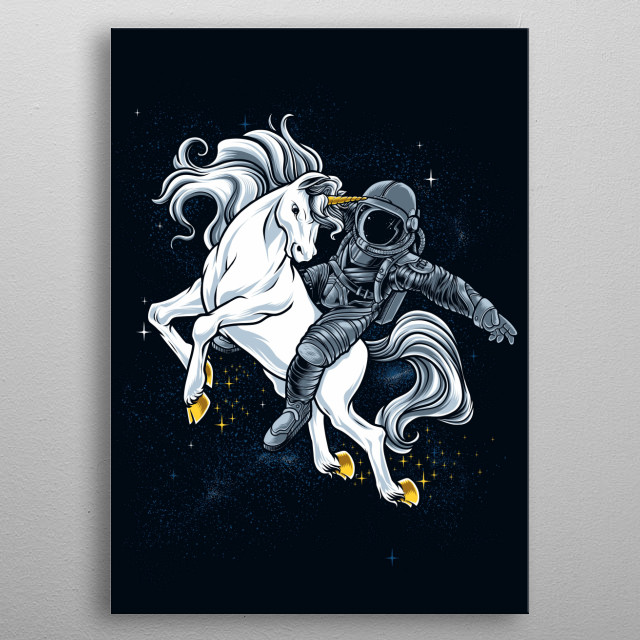 Space Rodeo metal poster
