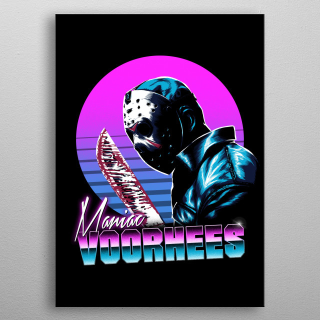 Jason in 80s style metal poster