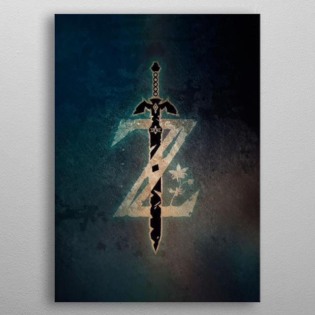 Warrior symbol metal poster