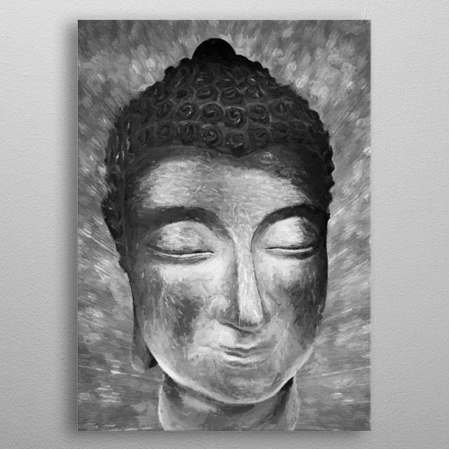 Silver Buddha Head  Also available i gold color. For contact and inquiries, please go to  Open for suggestions and requests. metal poster