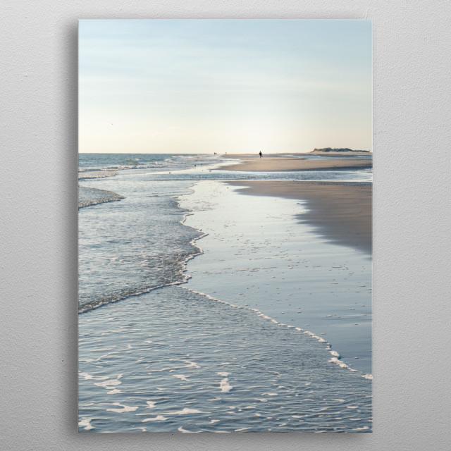 Amrum Beach, North Sea metal poster