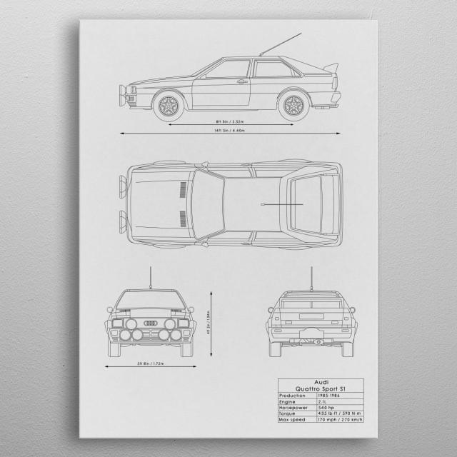 Audi Quattro Sport S1 metal poster