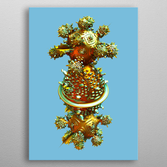 High-quality metal print from amazing Fractal collection will bring unique style to your space and will show off your personality. metal poster